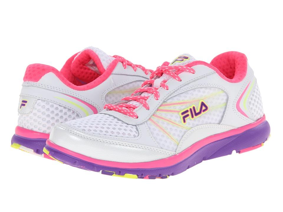 Fila Memory Panache (White/Knockout Pink/Electric Purple) Women