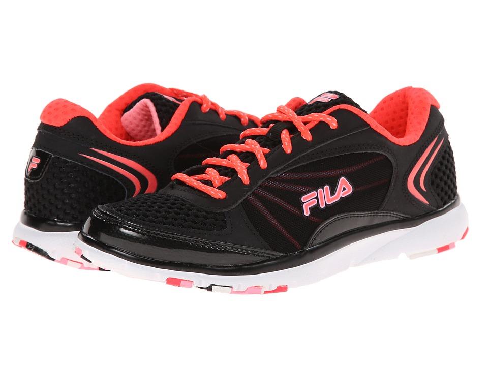 Fila - Memory Panache (Black/Diva Pink/Cotton Candy) Women's Cross Training Shoes