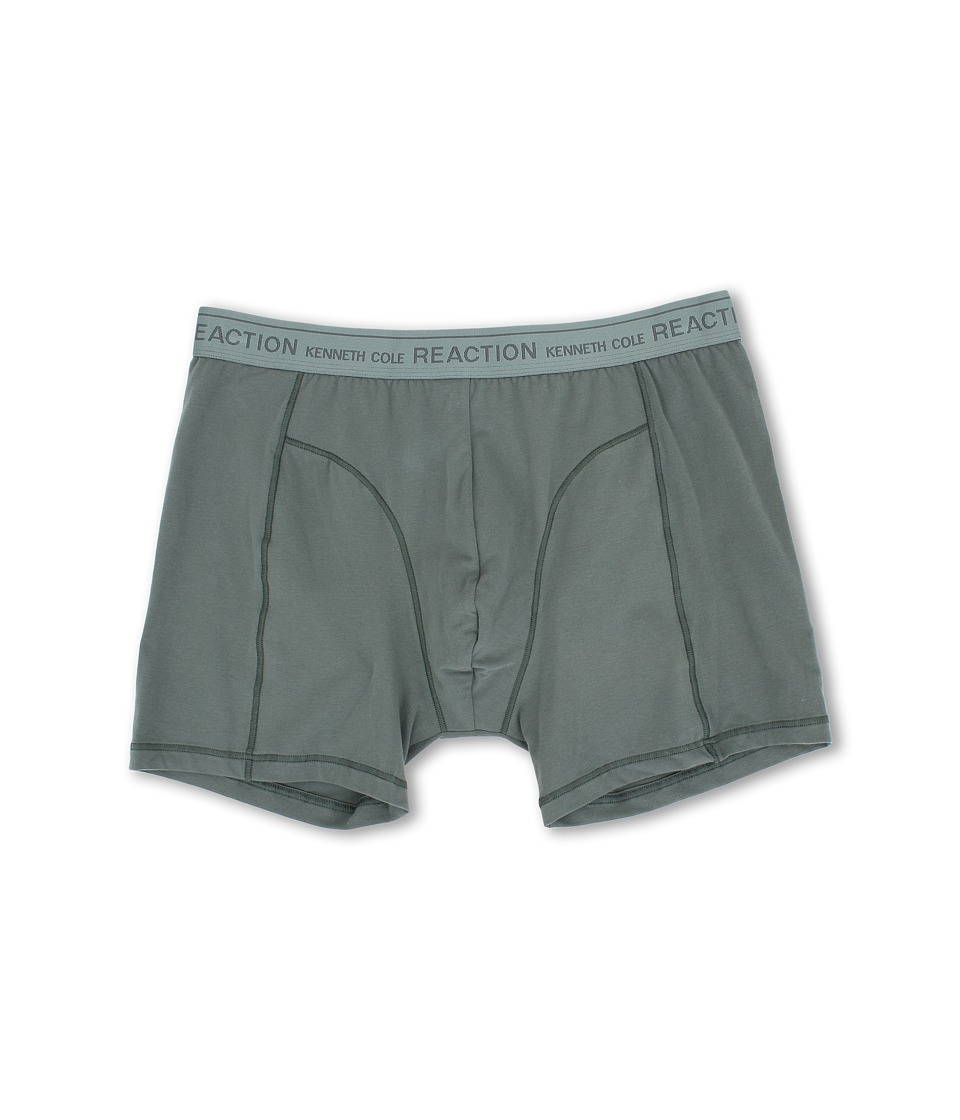 Kenneth Cole Reaction - Super Soft Stretch Boxer Brief with Metallic Waistband (Moss) Men