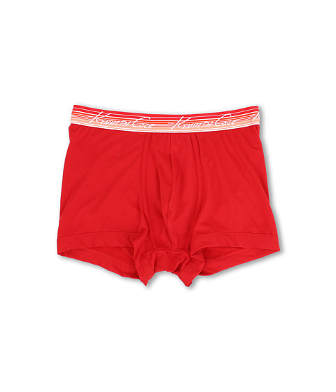 Kenneth Cole Reaction - Silky Soft Stretch Trunk with Striped Waistband (Chinese Red) Men's Underwear