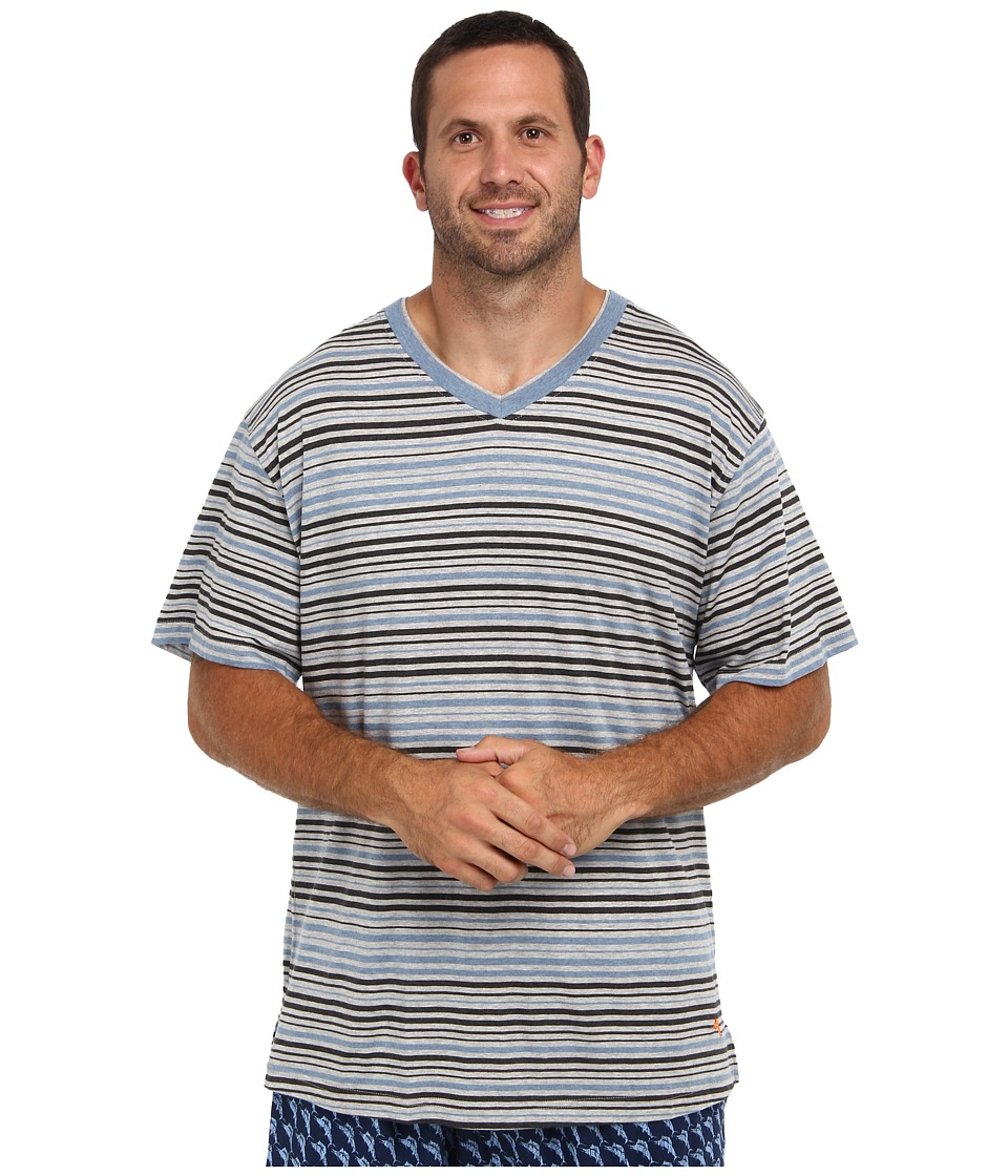 Tommy Bahama - Big Tall Maritime Stripe Cotton Modal Tee (Maritime Stripe Multi) Men