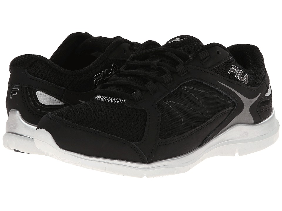 Fila - Memory Resilient 2 (Black/Black/Metallic Silver) Women's Cross Training Shoes