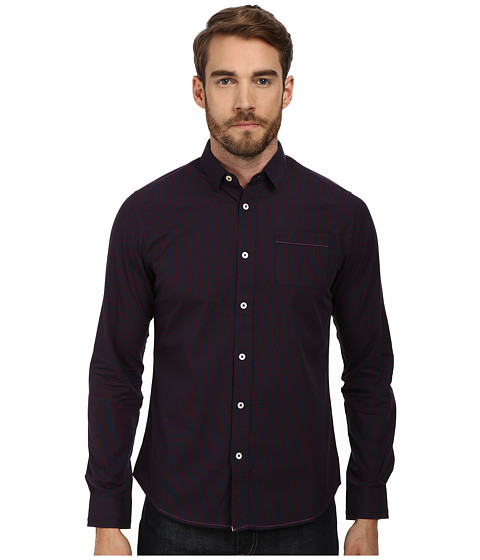 Descendant Of Thieves - 2D Shadow (Dark Navy) Men's Long Sleeve Button Up