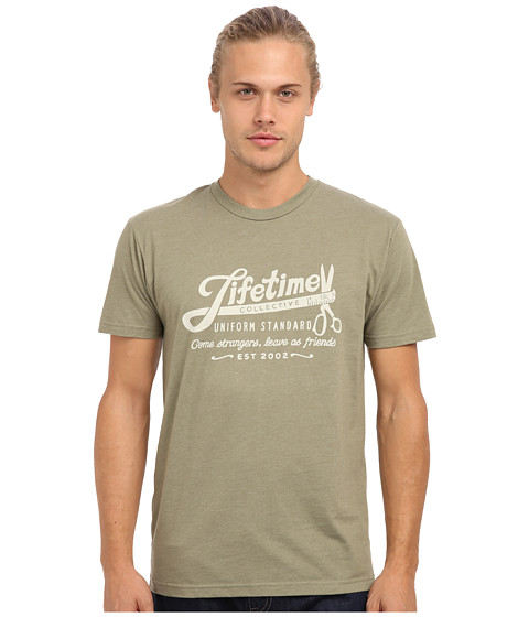 Lifetime Collective - Tape Measure Tee (Light Olive) Men's T Shirt