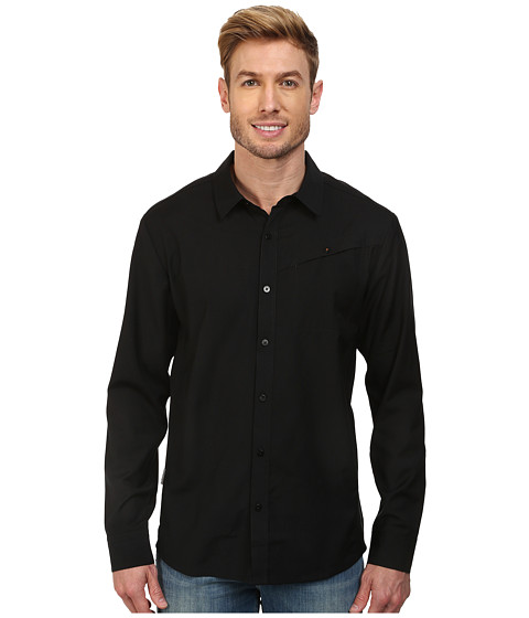 Icebreaker - Departure L/S Shirt (Black) Men's Long Sleeve Button Up