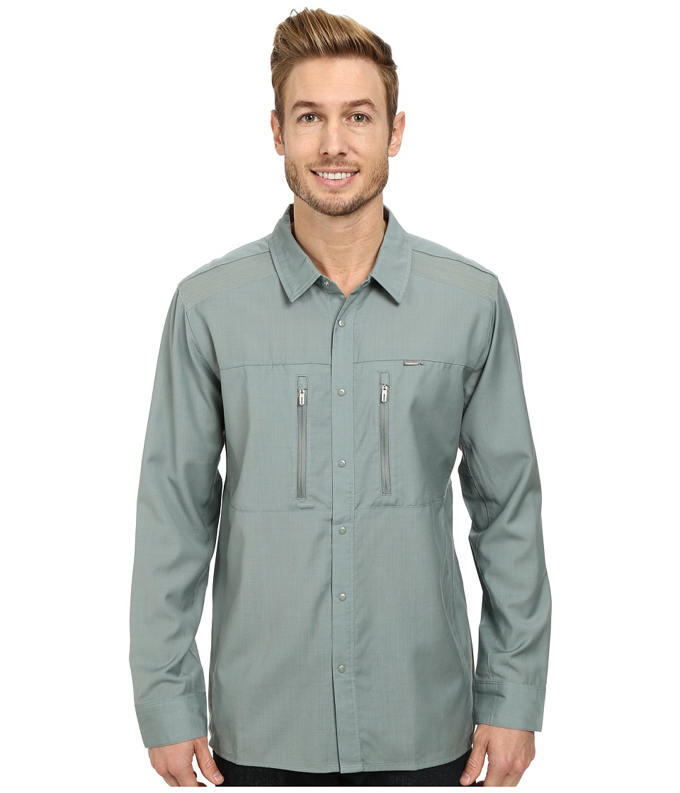 Icebreaker - Oreti L/S Shirt (Shale) Men's Long Sleeve Button Up