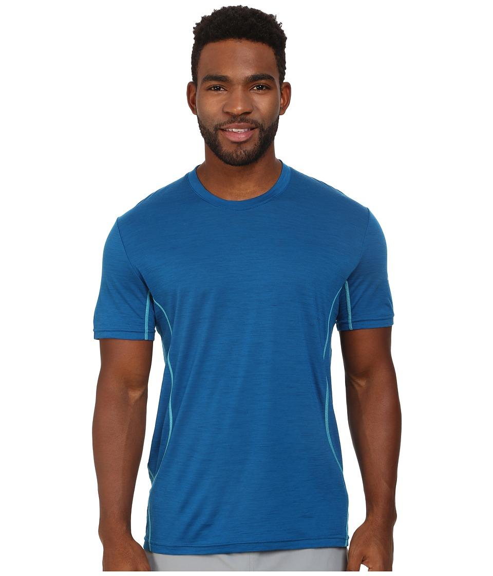 Icebreaker - Aero S/S Crewe (Petrol) Men's T Shirt