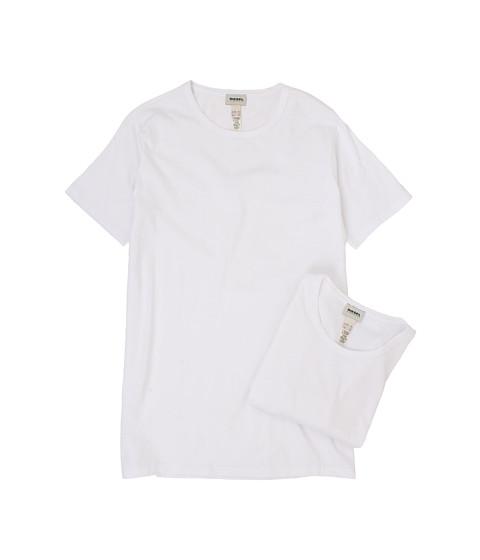 Diesel - Dave R T-Shirt JAFL 2-Pack (White) Men