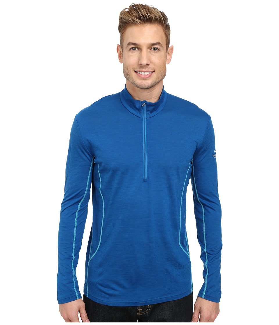 Icebreaker - Aero Long Sleeve Half Zip (Petrol) Men