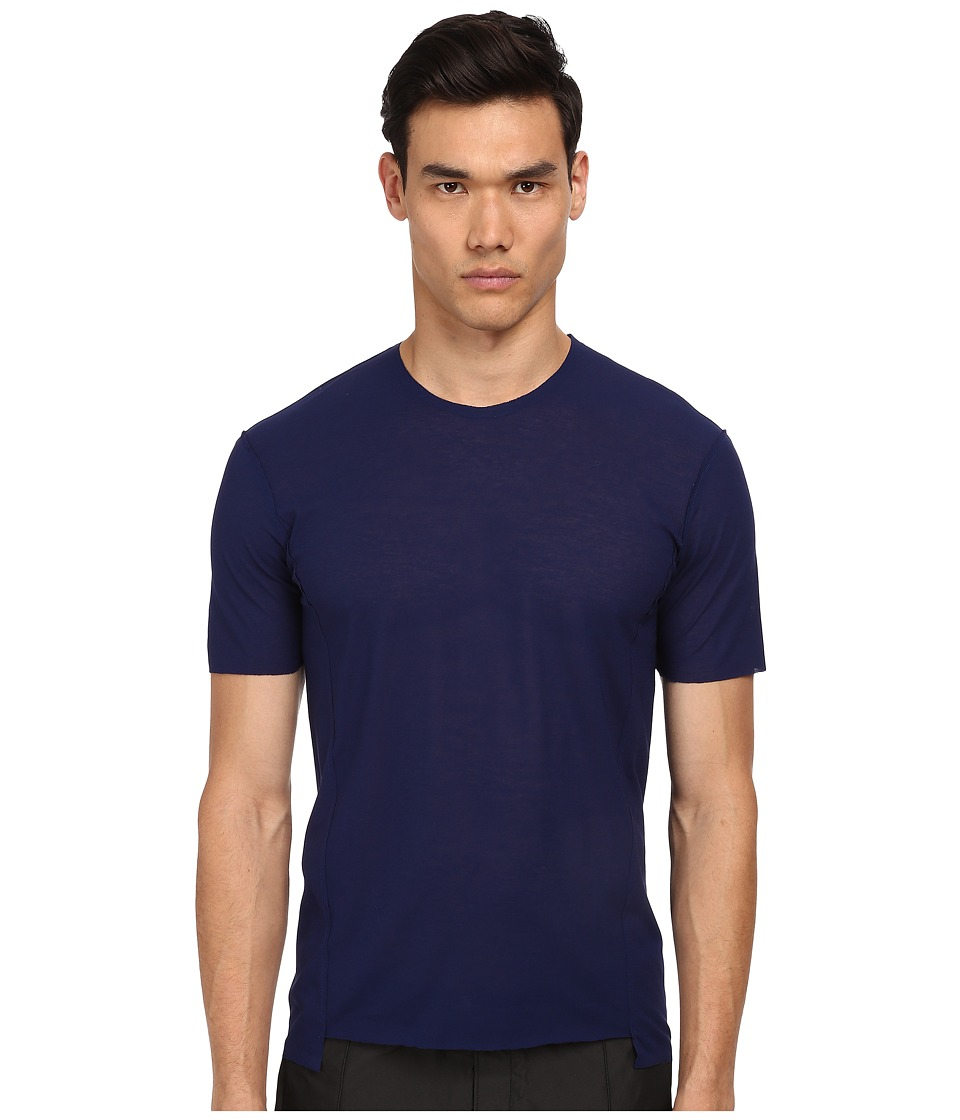 CoSTUME NATIONAL - Round Neck T-Shirt (Cobalt/Cobalt/Academy) Men's T Shirt