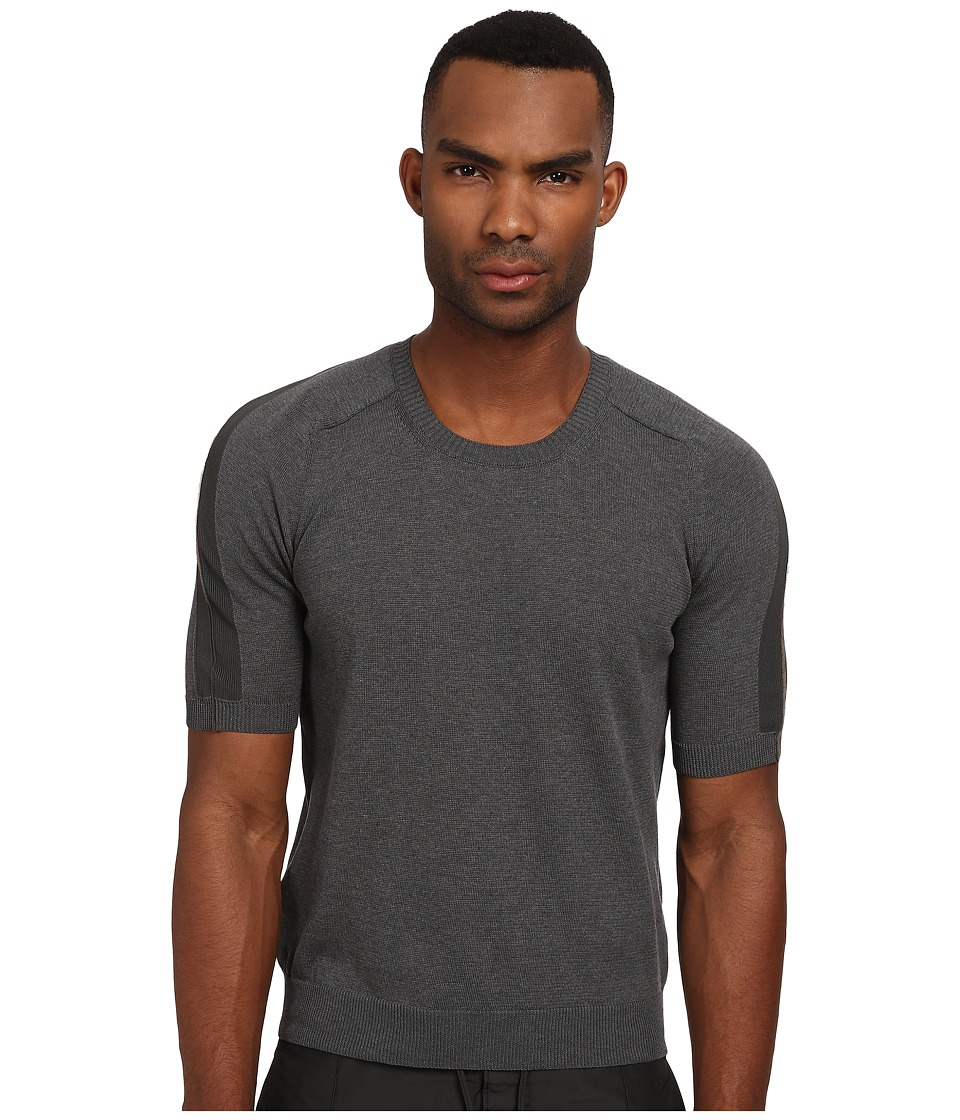 CoSTUME NATIONAL - Short Sleeve Sweater (Grey) Men's Sweater