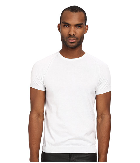 CoSTUME NATIONAL - Short Sleeve Pullover Sweater (White) Men's Sweater