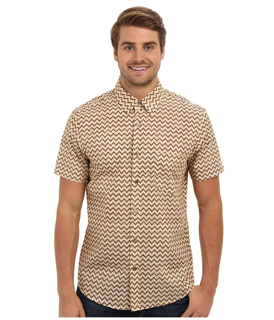 Mr.Turk - S/S Zig Zag Slim Jim Shirt (Natural) Men