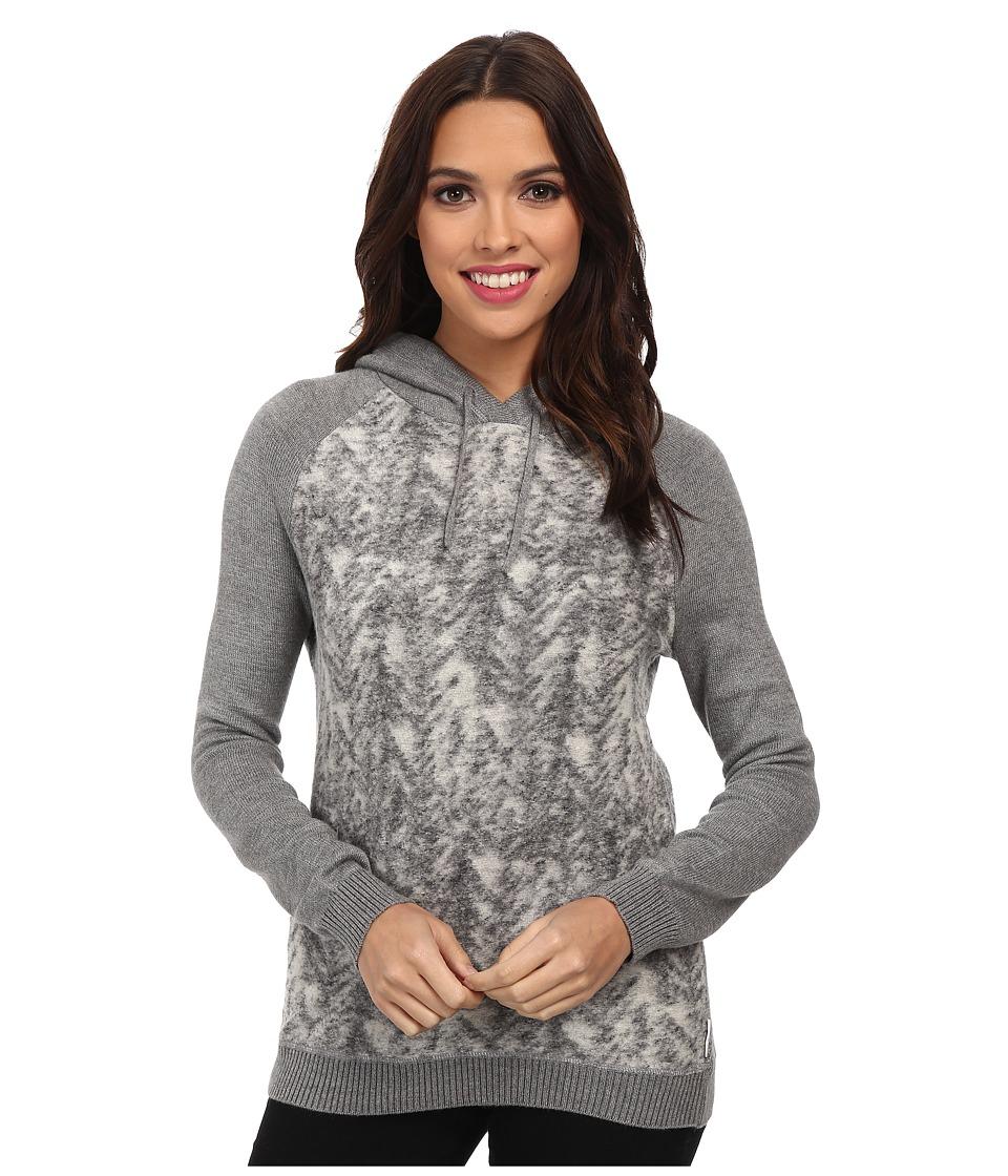 Calvin Klein Jeans - Plush Pullover Hoodie (Chrome Heather) Women's Sweatshirt