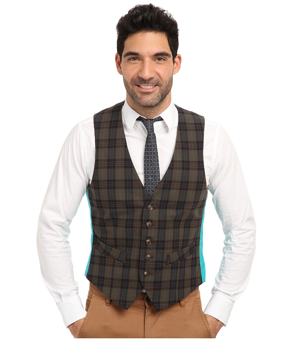 Mr.Turk - Irving Vest in Olive (Olive) Men's Jacket