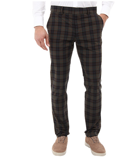 Mr.Turk - Clyde Slim Trouser in Olive (Olive) Men's Casual Pants