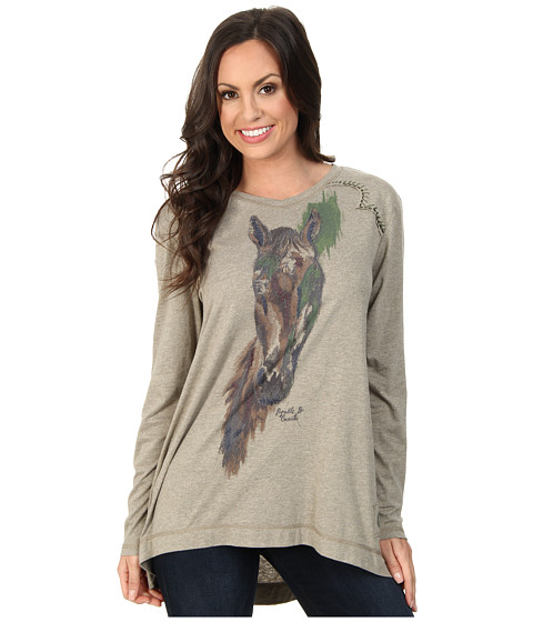 Double D Ranchwear - My Pony Top (Flax) Women