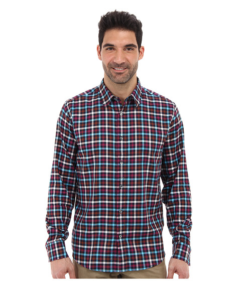 Mr.Turk - Aaron L/S Plaid Shirt (Multi) Men's Clothing