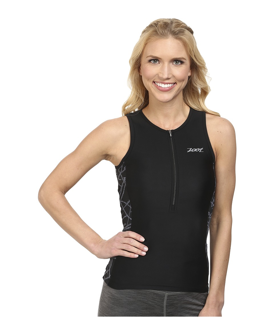 Zoot Sports - PERFORMANCE Tri Tank (Black Static) Women's Sleeveless
