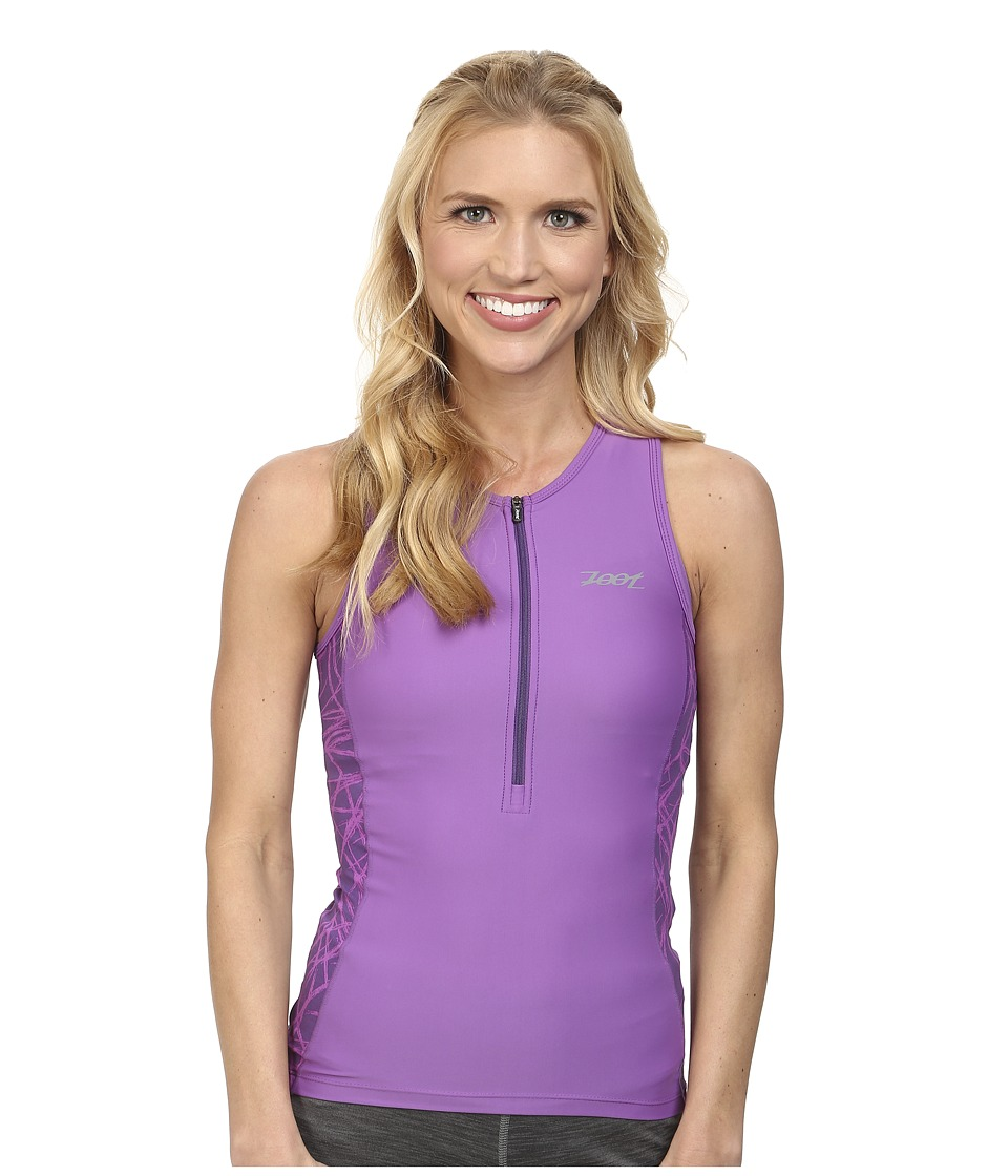 Zoot Sports - PERFORMANCE Tri Tank (Purple Haze Static) Women's Sleeveless