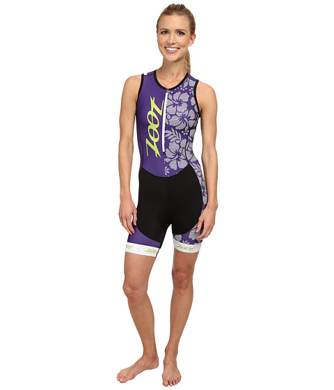Zoot Sports - Performance Tri Team Racesuit (Purple Haze/Spring Green) Women's Race Suits One Piece
