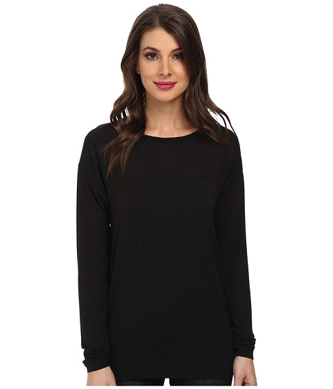 Calvin Klein Jeans - L/S Block Top (Black) Women's Clothing