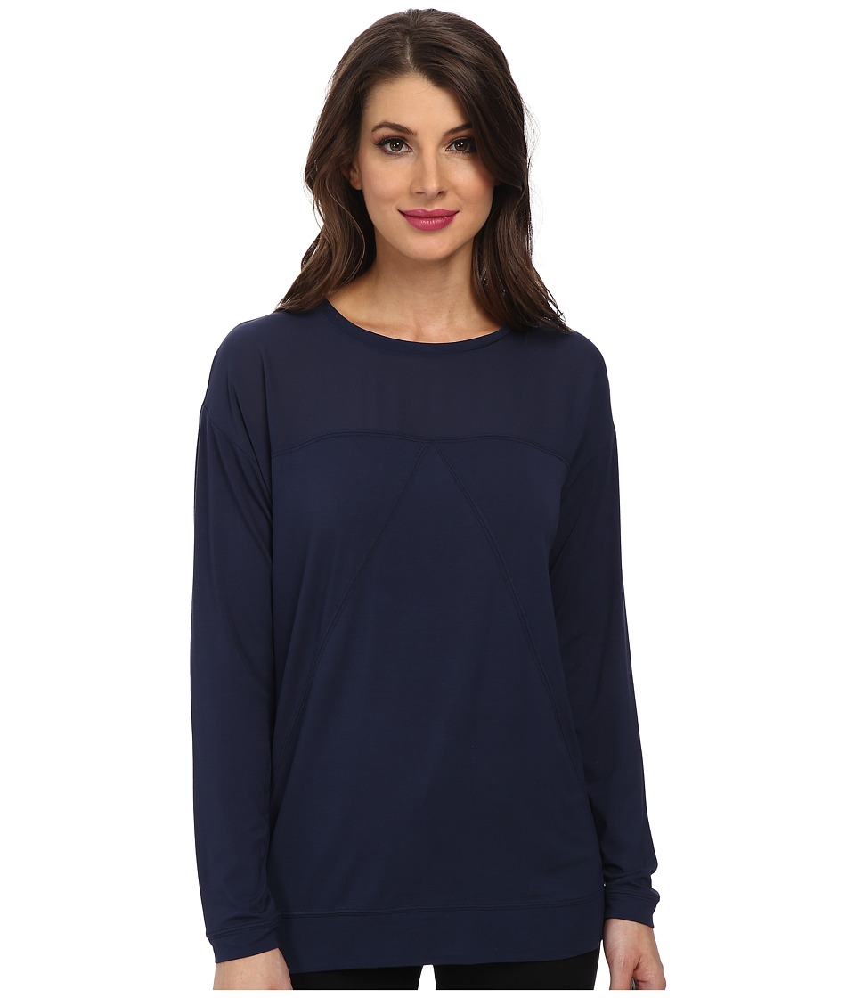 Calvin Klein Jeans - L/S Block Top (Coated Tide) Women's Clothing