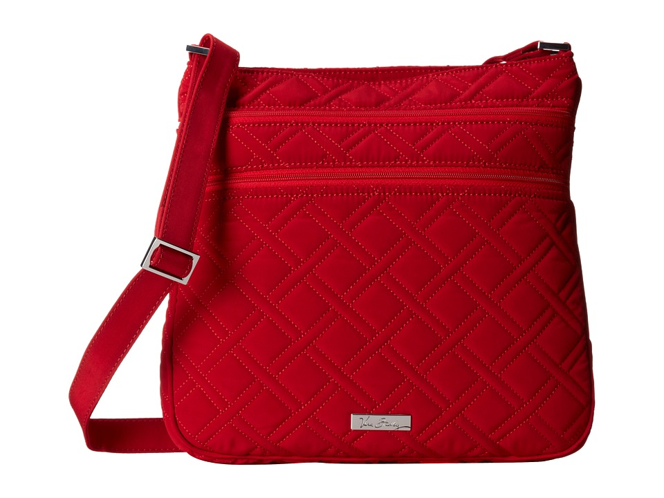 Vera Bradley - Triple Zip Hipster (Tango Red) Cross Body Handbags