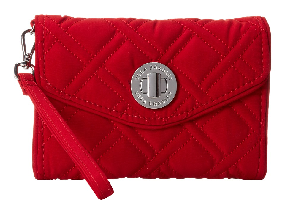 Vera Bradley - Your Turn Smartphone Wristlet (Tango Red) Wristlet Handbags