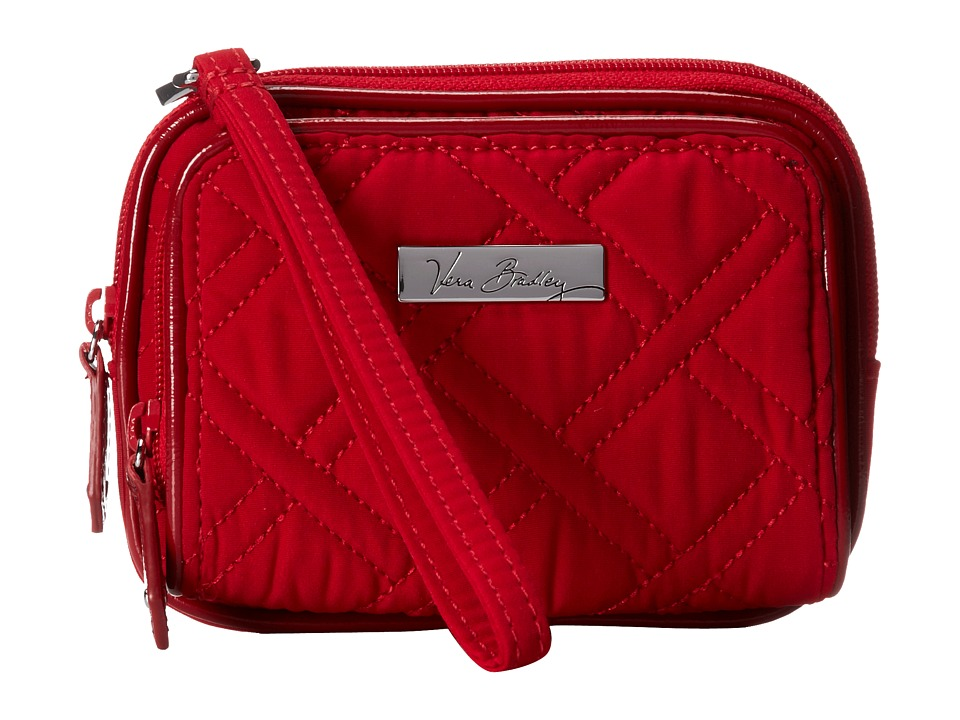 Vera Bradley - On The Square Wristlet (Tango Red w/ Red Trim) Wristlet Handbags
