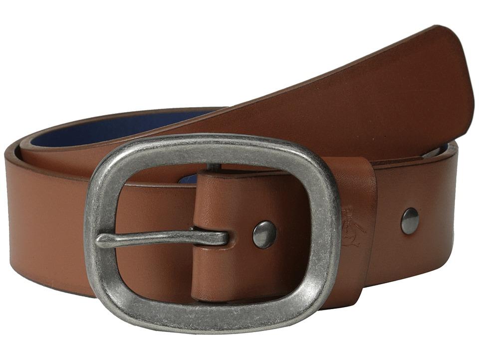 Original Penguin - Solid Leather Belt (English Tan) Men's Belts