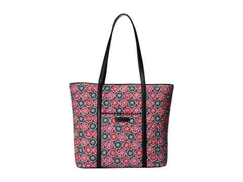 Vera Bradley Luggage - Trimmed Vera (Blossoms w/ Black Trim) Tote Handbags