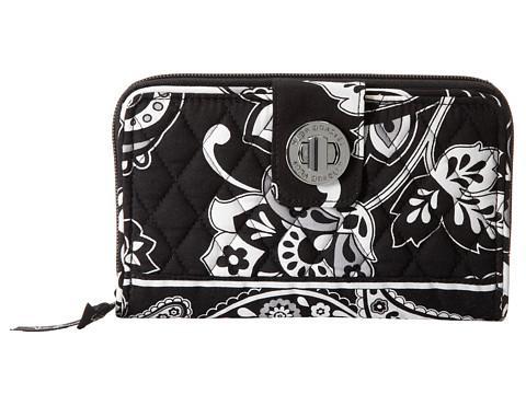 Vera Bradley - Turn Lock Wallet (Midnight Paisley) Wallet Handbags