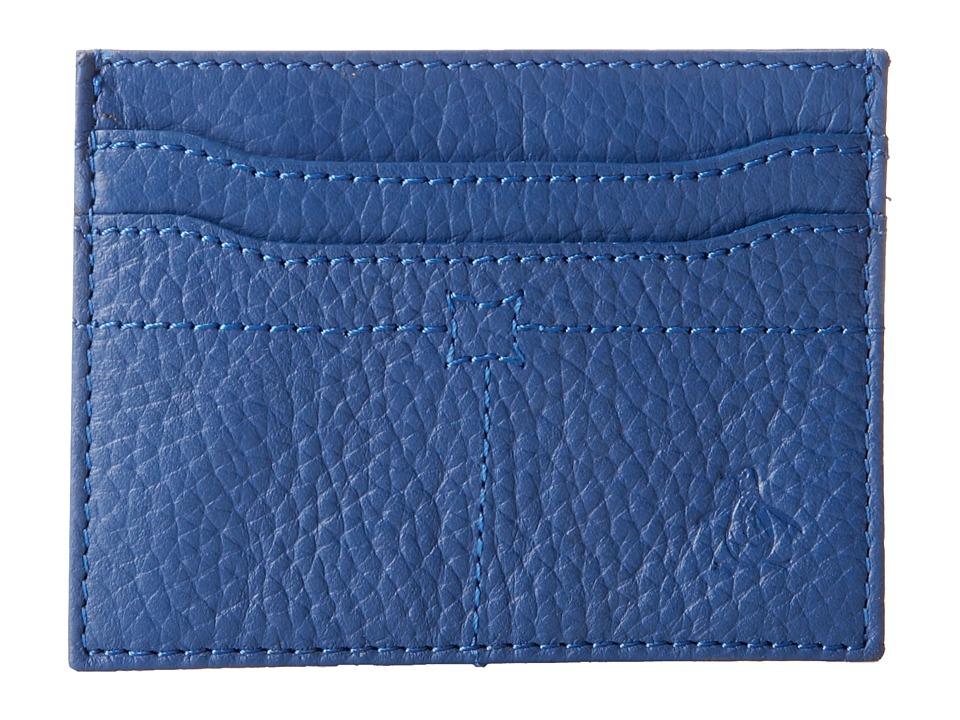 Original Penguin - Leather Business Card Wallet (True Blue) Wallet Handbags