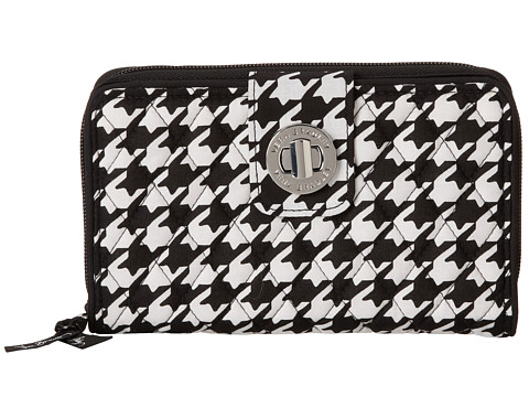 Vera Bradley - Turn Lock Wallet (Midnight Houndstooth) Wallet Handbags
