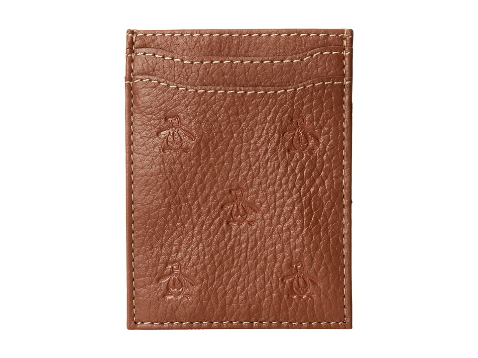Original Penguin - Repeat Deboss Pocket Wallet (English Tan) Wallet Handbags