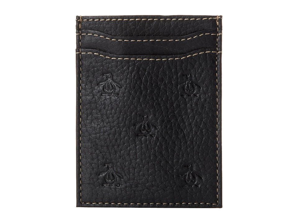 Original Penguin - Repeat Deboss Pocket Wallet (Black) Wallet Handbags