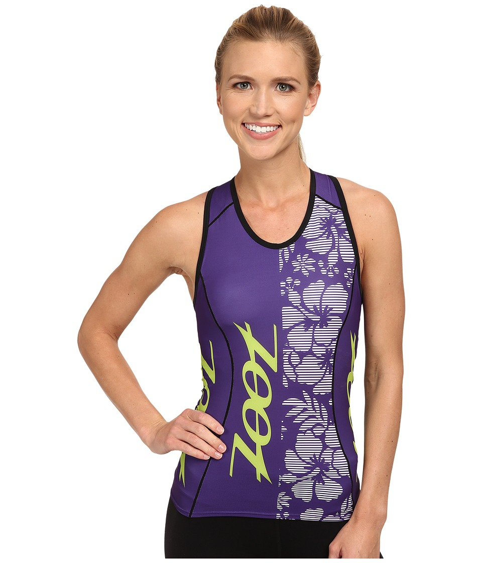 Zoot Sports - Performance Tri Team Racerback (Purple Haze/Spring Green) Women's Clothing