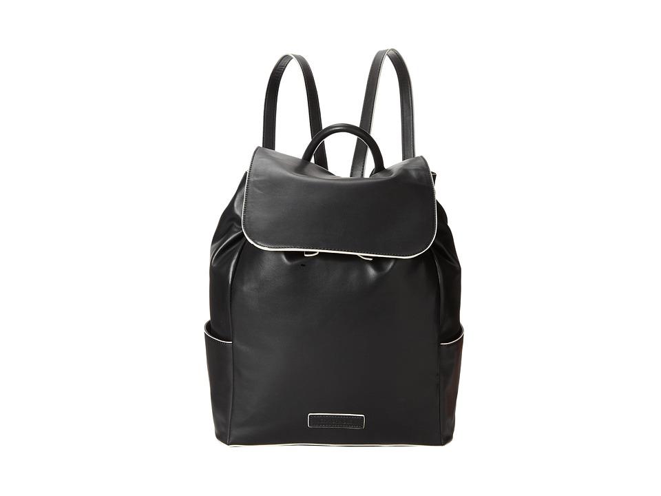 Vera Bradley Faux Leather Backpack (Black) Backpack Bags