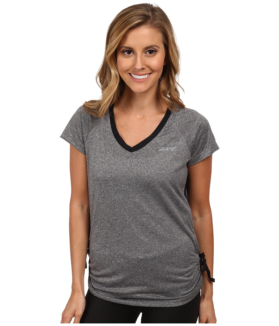 Zoot Sports - Run Sunset Tee (Black Heather/Black) Women