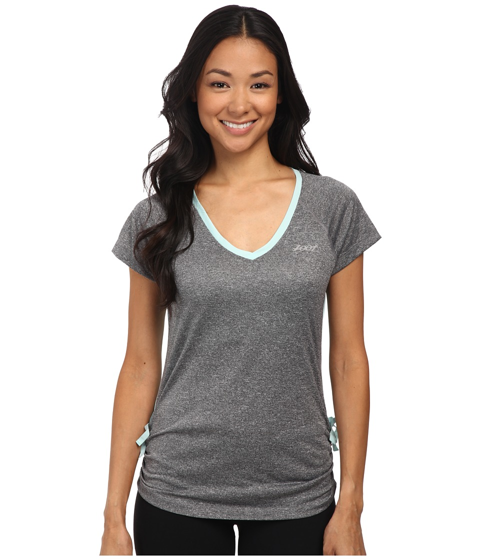 Zoot Sports - Run Sunset Tee (Black Heather/Lagoon) Women's T Shirt