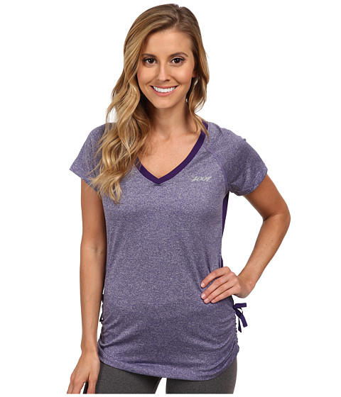 Zoot Sports - Run Sunset Tee (Deep Purple Heather/Deep Purple) Women's T Shirt
