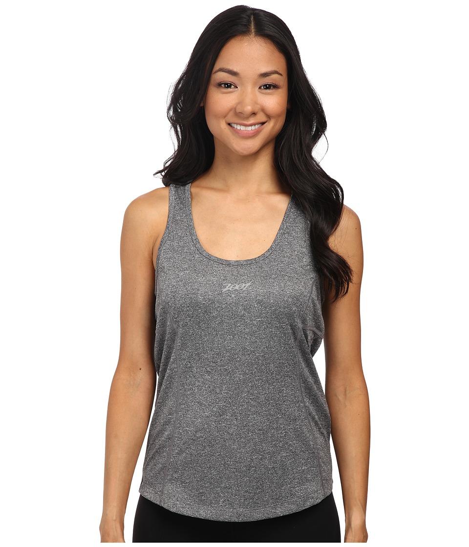 Zoot Sports - Run Sunset Singlet (Black Heather/Lagoon) Women's Clothing