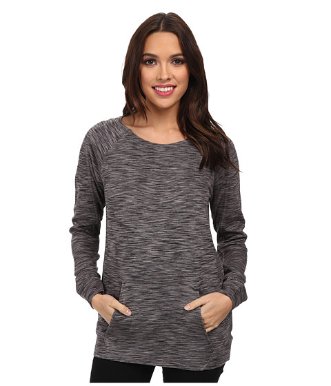 Calvin Klein Jeans - Crew Neck Raglan Sport Top (Charcoal Space Dye) Women's Clothing