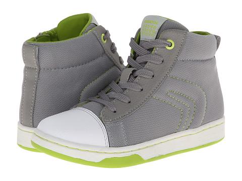 Geox Kids - Jr Maltin Boy 11 (Little Kid/Big Kid) (Grey/Lime) Boys Shoes