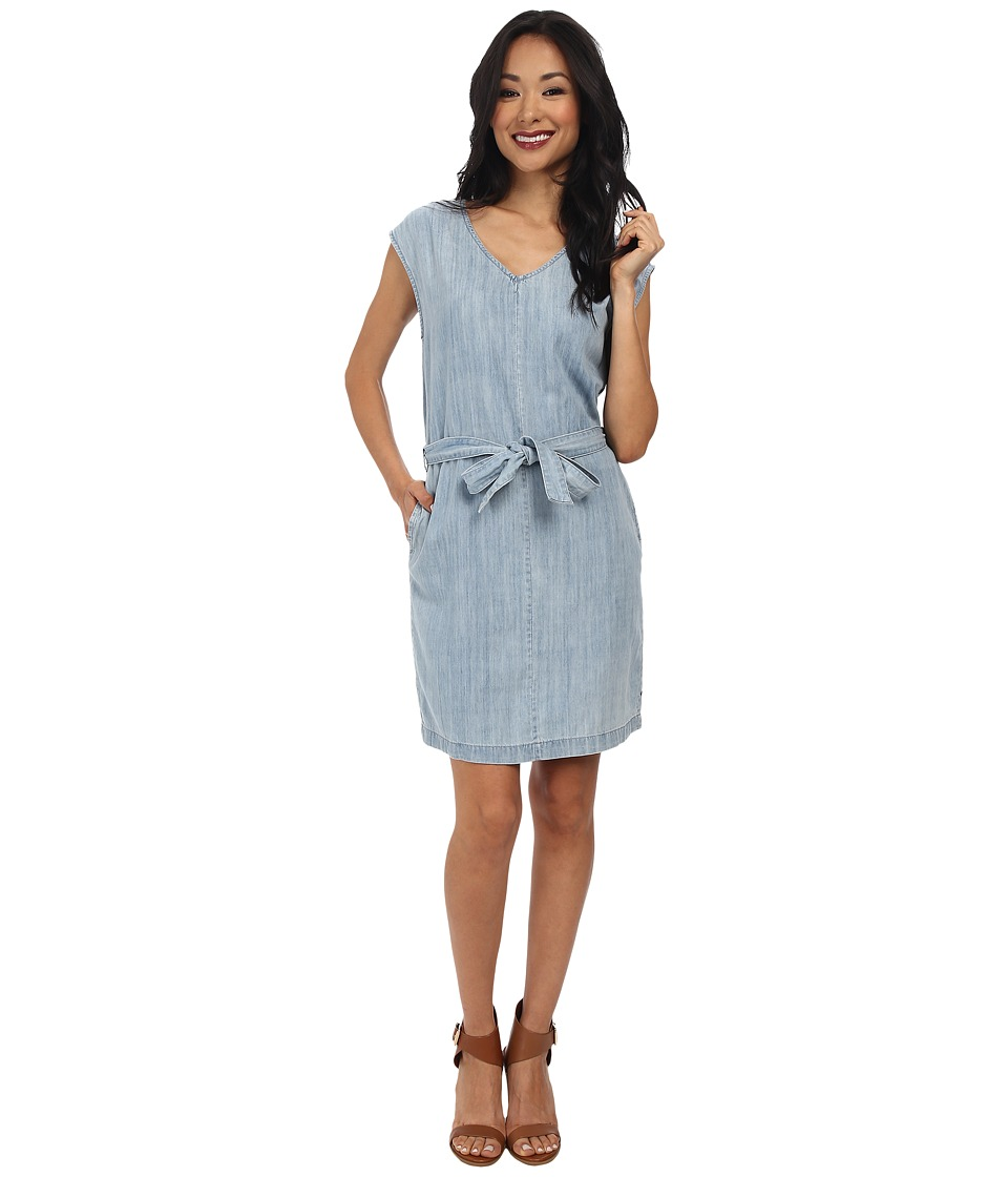 Calvin Klein Jeans - Denim Tie Waist Dress (Light Blue) Women