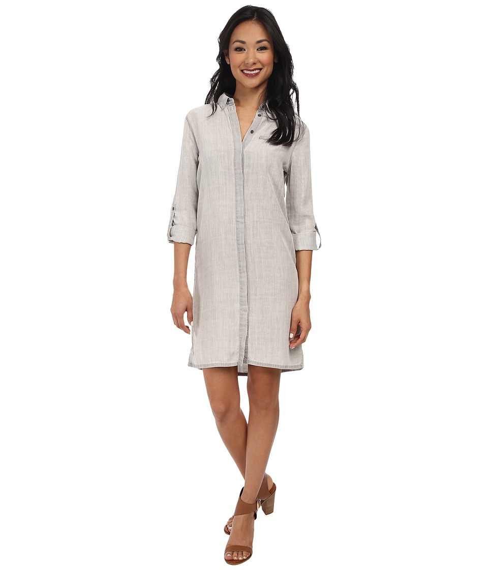 Calvin Klein Jeans - Tencel Button Down Dress (Grey Sun) Women's Dress