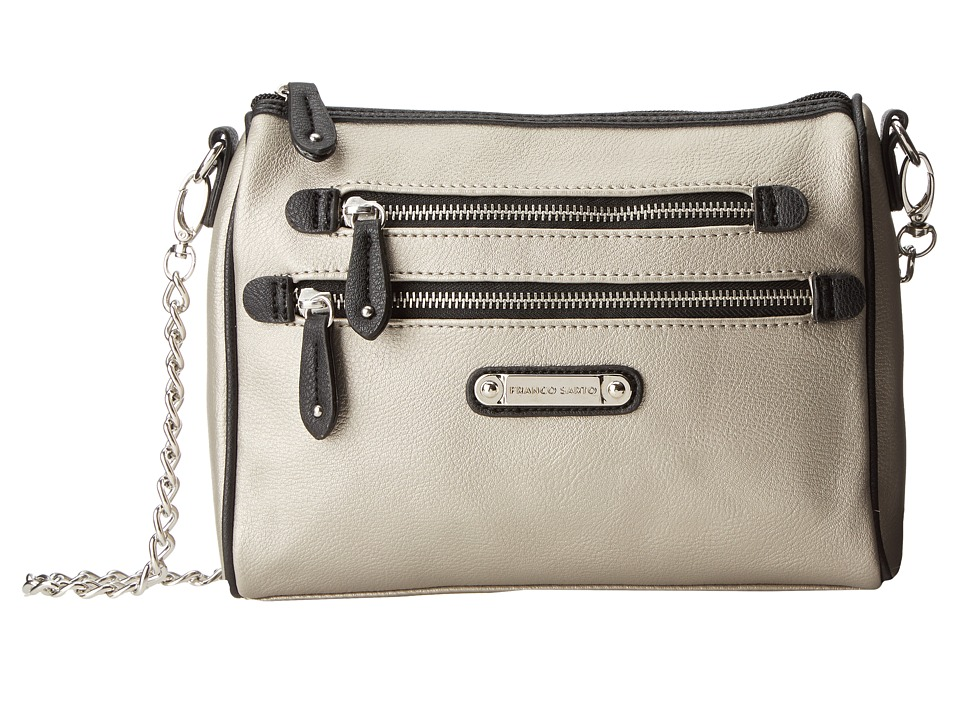 Franco Sarto - Class Act Shoulder Bag (Silver) Cross Body Handbags