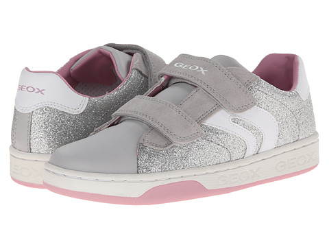 Geox Kids - Jr Maltin Girl 6 (Big Kid) (Silver) Girls Shoes