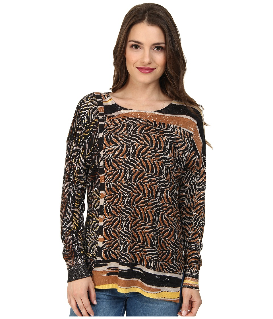 NIC+ZOE - Petite Willow Print Top Tissue Tee (Multi) Women's T Shirt